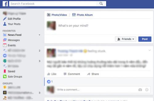 Facebook thay đổi giao diện mới - 1