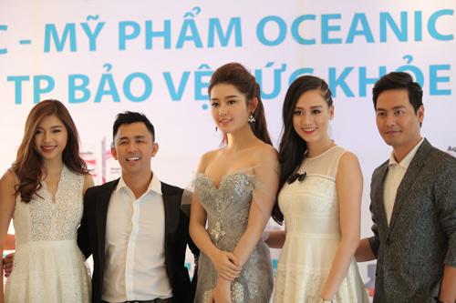 Huyền My - Phan Anh rạng rỡ trong buổi ra mắt bộ dược mỹ phẩm OCEANIC - 1