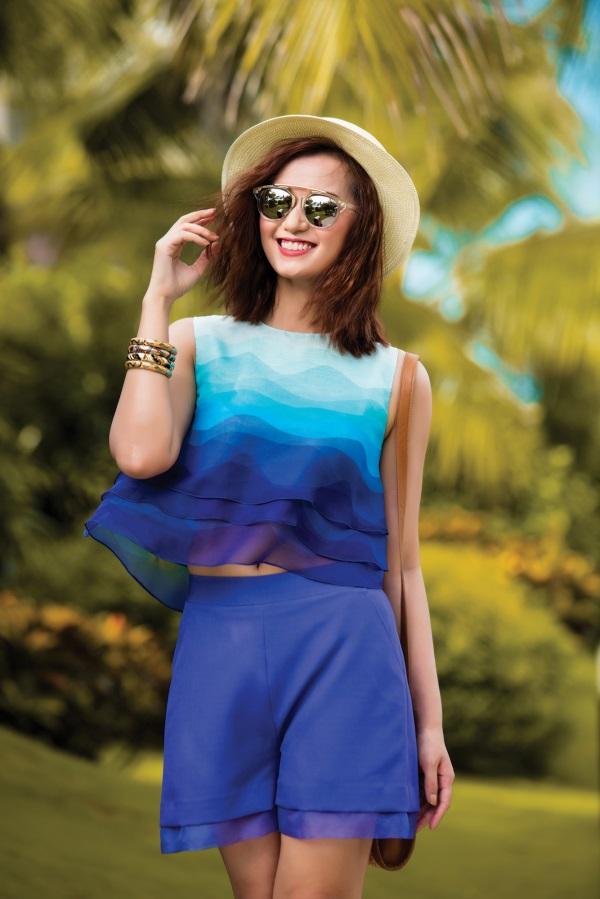 Lã Thanh Huyền rạng ngời với váy áo ombre tươi mát - 5