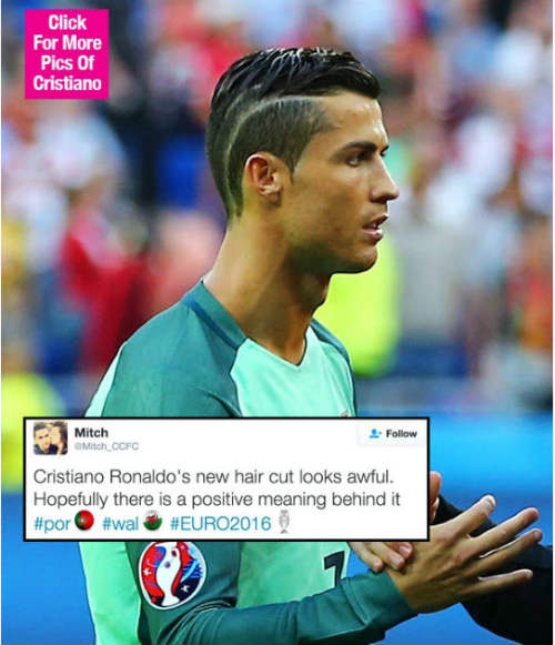 """Tóc mới của Ronaldo bị """"ném đá"""" thậm tệ - 1"""