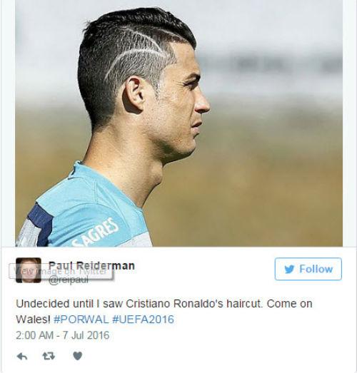 """Tóc mới của Ronaldo bị """"ném đá"""" thậm tệ - 3"""