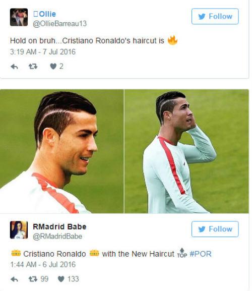 """Tóc mới của Ronaldo bị """"ném đá"""" thậm tệ - 2"""