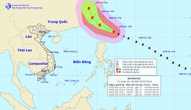 Thông tin mới nhất về siêu bão Nepartak trên Biển Đông - 1