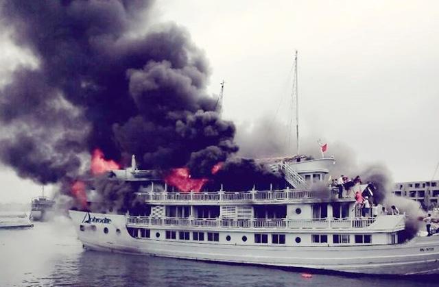 Hành khách hú vía vì lái tàu bằng… chân trên Vịnh Hạ Long - 4