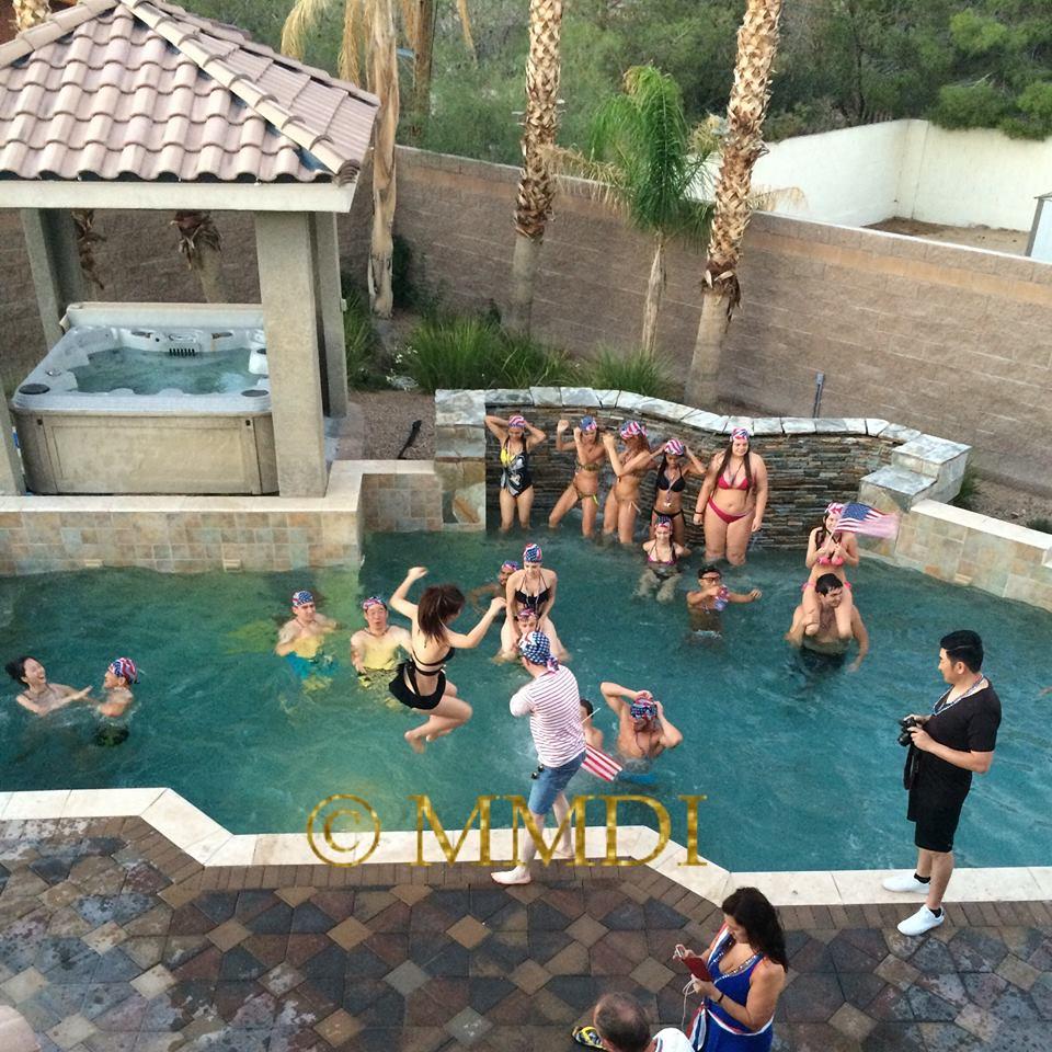 Tiệc bể bơi sôi động của dàn thí sinh Hoa hậu Điếc - 4