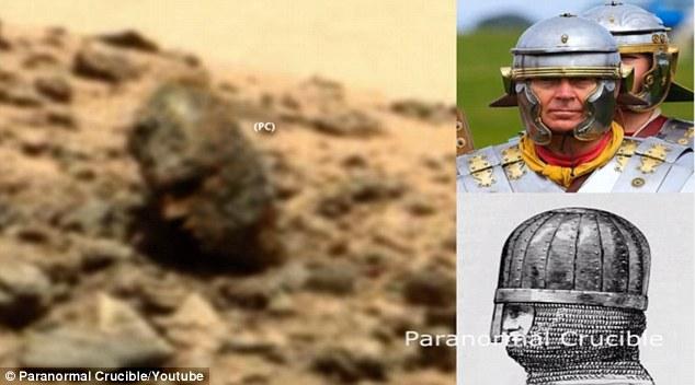 Phát hiện đá hình đầu người trên sao Hỏa - 1
