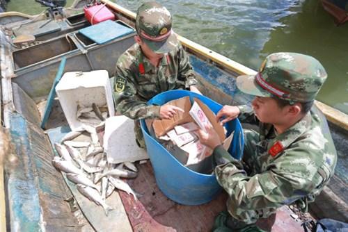 Vùi 370 chiếc iPhone dưới thùng cá để buôn lậu - 2