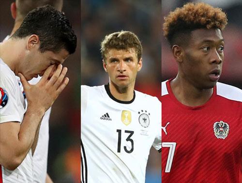 """Sao xịt"" ở Euro: Lewandowski, Muller, Alaba - 1"