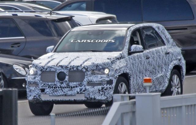 Mercedes-Benz GLE 2019 lần đầu lộ diện ảnh thử nghiệm - 3