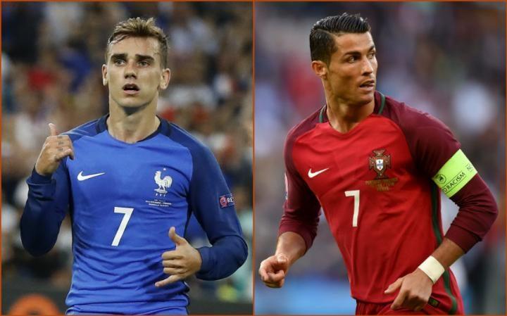 Quả bóng vàng Euro: Griezmann sáng cửa hơn Ronaldo - 1