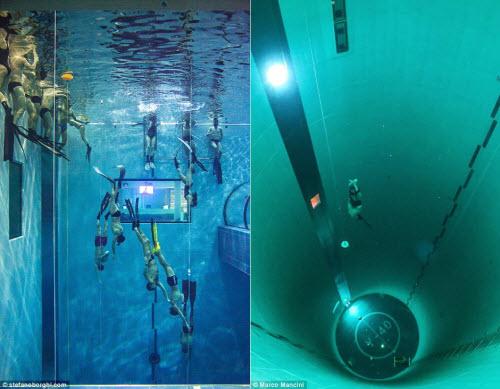 Khám phá bể bơi sâu nhất thế giới, bằng tòa nhà 14 tầng - 3