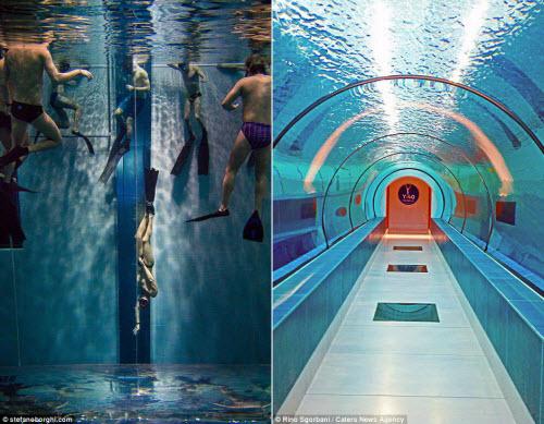 Khám phá bể bơi sâu nhất thế giới, bằng tòa nhà 14 tầng - 10