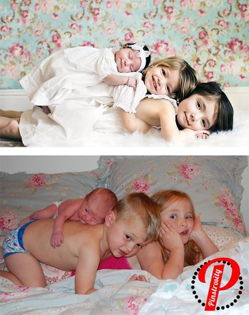 """Bi hài những bức ảnh """"bắt chước"""" của các em bé - 2"""