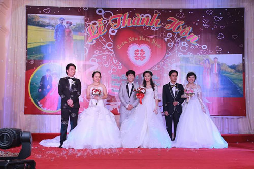 Ba chị em ruột ở Vũng Tàu làm đám cưới chung một ngày - 2