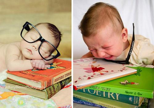 """Nỗi lòng của em bé khi bị bố mẹ """"ép"""" đi chụp hình - 12"""