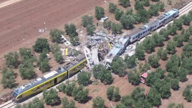 Tàu hỏa đâm nhau trực diện ở Italia, 23 người thiệt mạng - 1