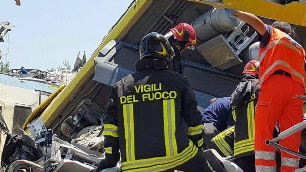 Tàu hỏa đâm nhau trực diện ở Italia, 23 người thiệt mạng - 2