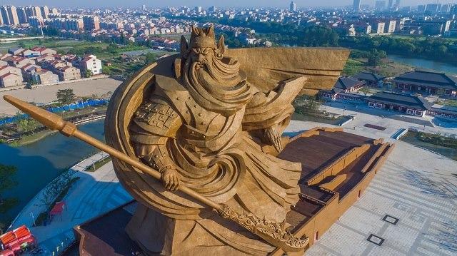 Trung Quốc xây tượng Quan Công cao 48m nặng nghìn tấn - 3