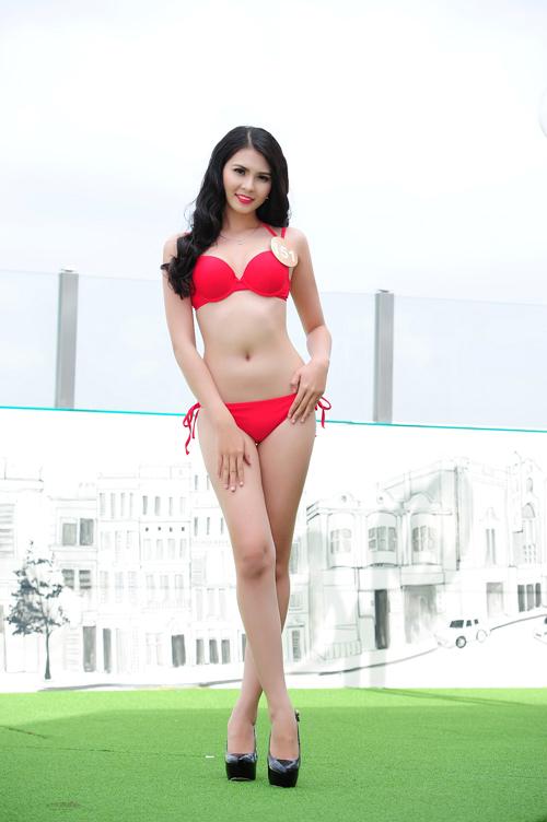 Ảnh bikini nóng bỏng của dàn thí sinh HH Bản sắc Việt - 1