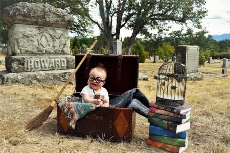 Em bé hóa thân thành Harry Potter siêu đáng yêu - 3