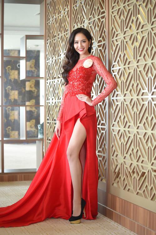 Chân dài cao 1m78 vượt trội ở Hoa hậu Bản sắc Việt - 1