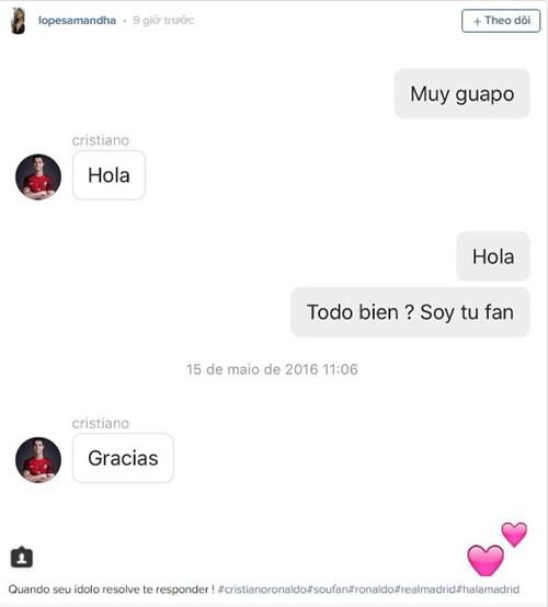 Nữ sinh bất ngờ nổi như cồn nhờ đoạn chat với Ronaldo - 2