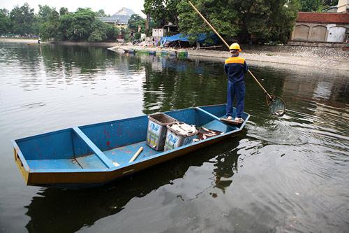 Hà Nội: Cá chết bất thường, nổi trắng hồ Thiền Quang - 1