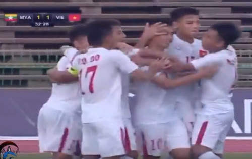 Video U16 Việt Nam vs U16 Myanmar - 1