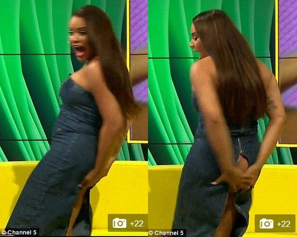 Nữ diễn viên tá hỏa vì bị rách váy lộ vòng 3 trên truyền hình - 2