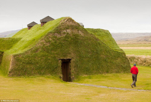 Những ngôi nhà mái cỏ đẹp như tranh vẽ ở Iceland - 2