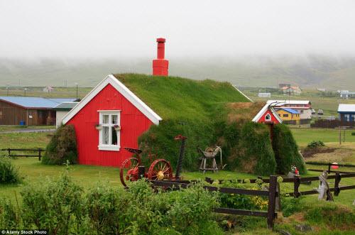 Những ngôi nhà mái cỏ đẹp như tranh vẽ ở Iceland - 6