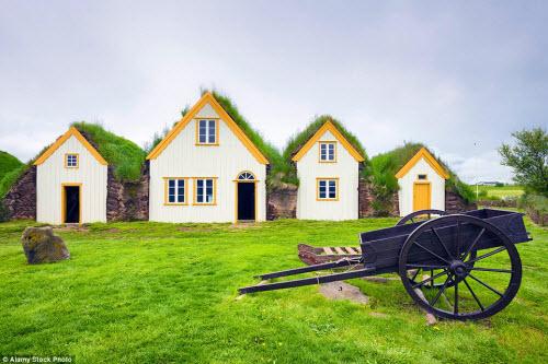Những ngôi nhà mái cỏ đẹp như tranh vẽ ở Iceland - 9