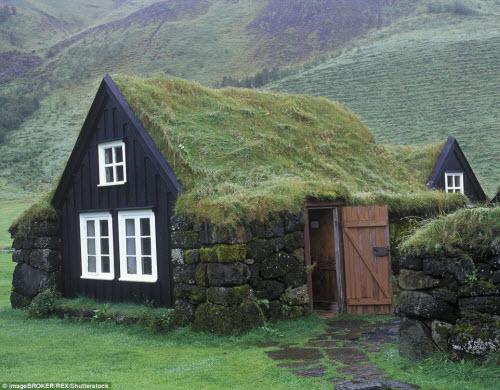 Những ngôi nhà mái cỏ đẹp như tranh vẽ ở Iceland - 11