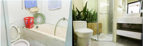 Biến phòng tắm cũ 4 mét vuông thành phòng tắm 5 sao - 6