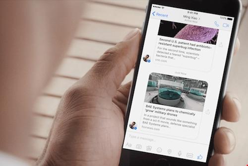 Facebook Messenger đã chính thức hỗ trợ Instant Articles - 1
