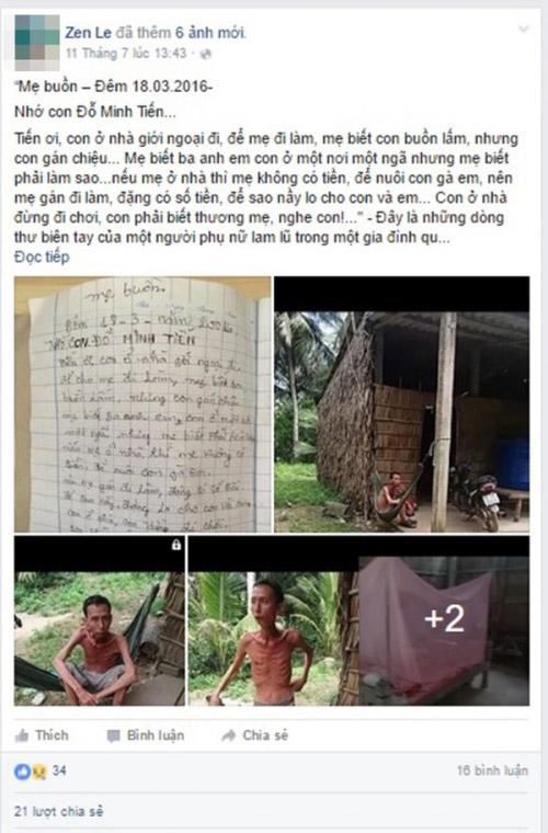 Rơi nước mắt lá thư đầy lỗi của người mẹ nghèo gửi con - 1
