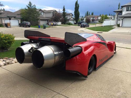 Độc dị xe Ferrari Enzo độ động cơ máy bay khủng - 1