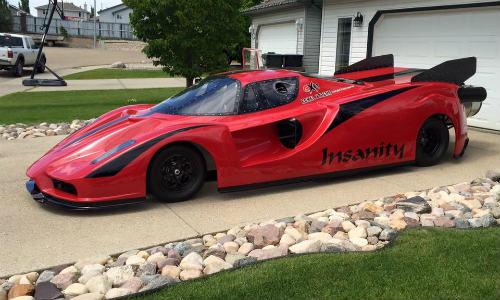 Độc dị xe Ferrari Enzo độ động cơ máy bay khủng - 4