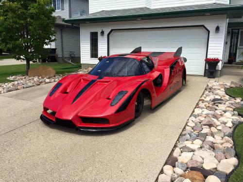 Độc dị xe Ferrari Enzo độ động cơ máy bay khủng - 5