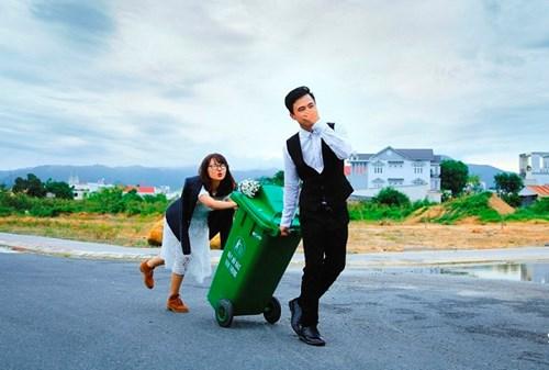 Cặp đôi Vũng Tàu chụp ảnh cưới bên thùng rác - 2
