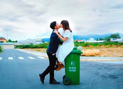 Cặp đôi Vũng Tàu chụp ảnh cưới bên thùng rác - 6
