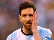 Messi đã không gặp may với tuyển Argentina