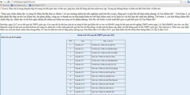 Bộ GD-ĐT cảnh báo: Thí sinh mất tài khoản vì website giả mạo - 1