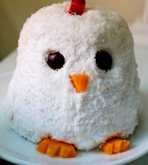 Cách làm bánh kem gà bông đẻ trứng sô cô la - 9