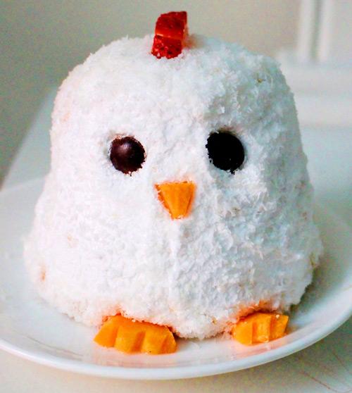 Cách làm bánh kem gà bông đẻ trứng sô cô la - 10