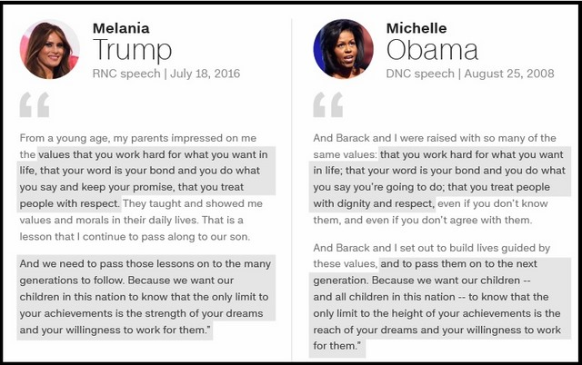 Lần đầu đăng đàn, vợ tỉ phú Trump đạo lời phu nhân Obama - 2