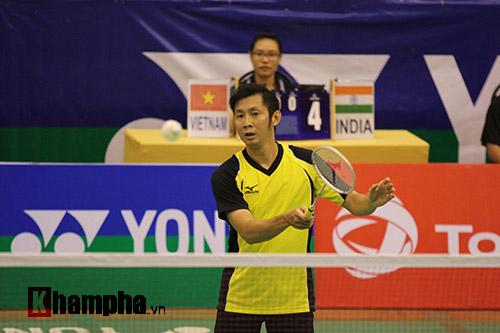 Tiến Minh bỏ cuộc ở vòng đầu giải cầu lông quốc tế 2016 - 1