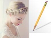 Tạo kiểu tết tóc xinh cực dễ với 2 cây bút chì