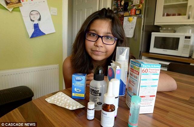 Anh: Bé gái 9 tuổi hắt hơi 8.000 lần mỗi ngày - 1