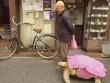 Clip: Cụ ông dắt cụ rùa đi dạo xôn xao Nhật Bản
